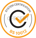 bs 10012 certification